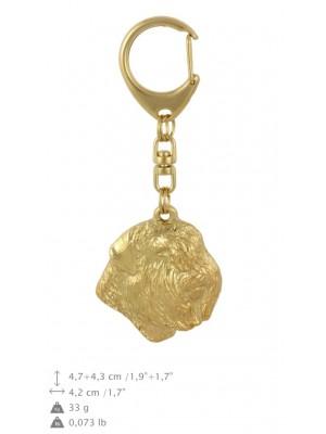 Bouvier des Flandres - keyring (gold plating) - 791 - 29119