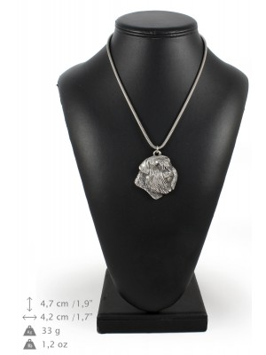 Bouvier des Flandres - necklace (silver cord) - 3153 - 33014