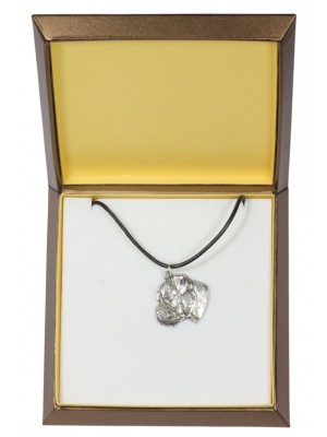 Boxer - necklace (silver plate) - 2932 - 31076