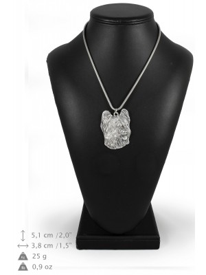 Briard - necklace (silver cord) - 3141 - 32953