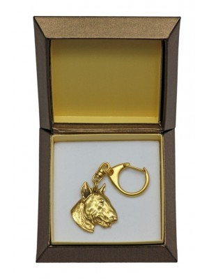 Bull Terrier - keyring (gold plating) - 2441 - 27312