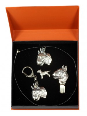 Bull Terrier - keyring (silver plate) - 2292 - 23975