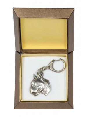 Bull Terrier - keyring (silver plate) - 2755 - 29874