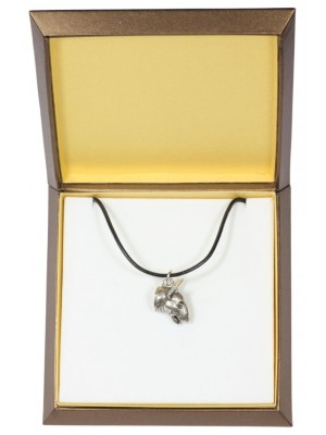 Bull Terrier - necklace (silver plate) - 2905 - 31049