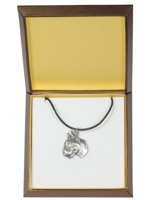 Bull Terrier - necklace (silver plate) - 2942 - 31086