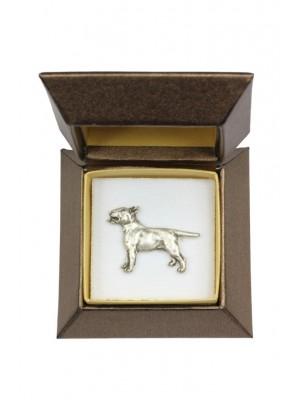 Bull Terrier - pin (silver plate) - 2632 - 28913