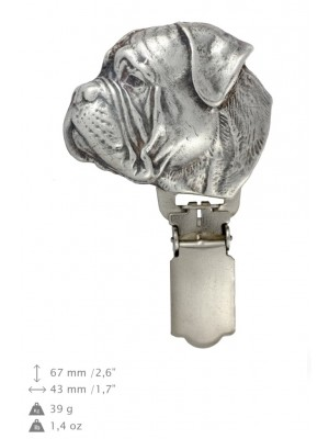 Bullmastiff - clip (silver plate) - 13 - 26184