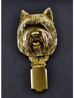 Cairn Terrier - clip (gold plating) - 1028 - 4501