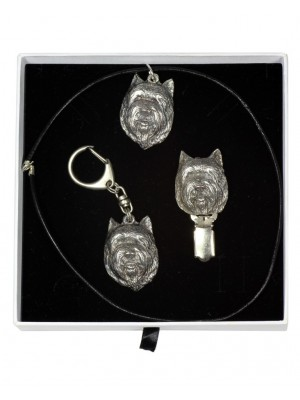 Cairn Terrier - keyring (silver plate) - 2056 - 17394