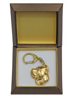 Cane Corso - keyring (gold plating) - 2390 - 27261