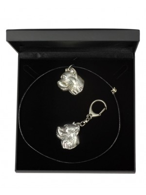 Cane Corso - keyring (silver plate) - 1745 - 11105