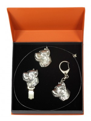 Cane Corso - keyring (silver plate) - 2271 - 23289