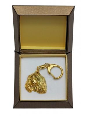 Cavalier King Charles Spaniel - keyring (gold plating) - 2424 - 27295