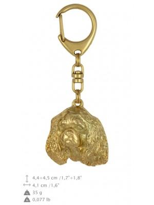 Cavalier King Charles Spaniel - keyring (gold plating) - 838 - 25179