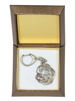 Central Asian Shepherd Dog - keyring (silver plate) - 2786 - 29906