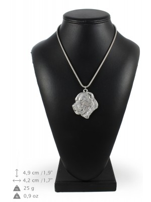 Central Asian Shepherd Dog - necklace (silver chain) - 3342 - 34495