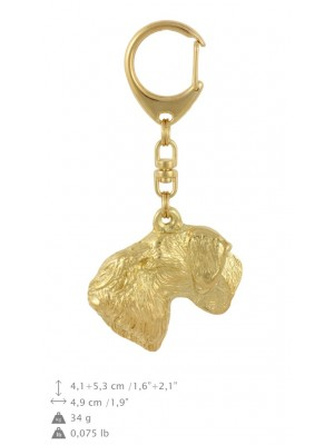Cesky Terrier - keyring (gold plating) - 2892 - 30483