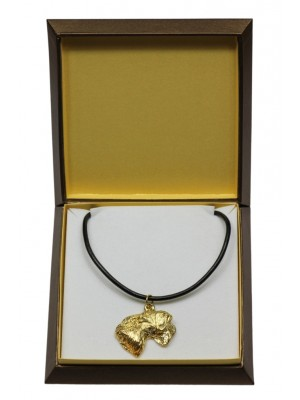 Cesky Terrier - necklace (gold plating) - 3075 - 31711