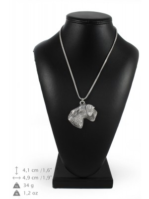 Cesky Terrier - necklace (silver chain) - 3374 - 34638