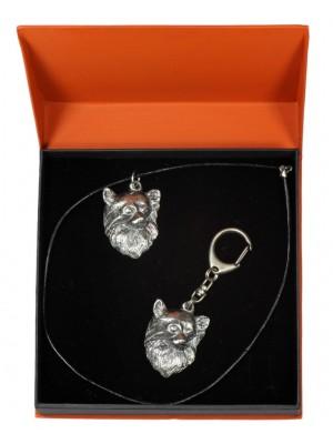 Chihuahua - keyring (silver plate) - 2201 - 21180