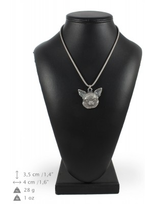 Chihuahua - necklace (silver chain) - 3347 - 34582