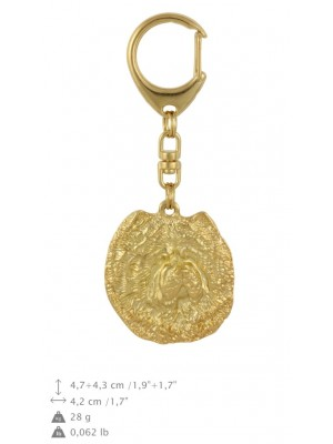 Chow Chow - keyring (gold plating) - 787 - 29109