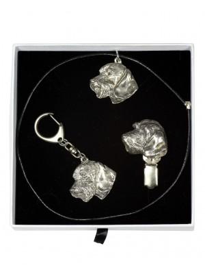 Dachshund - keyring (silver plate) - 2046 - 17088