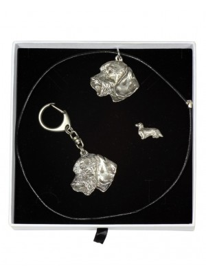 Dachshund - keyring (silver plate) - 2095 - 18582