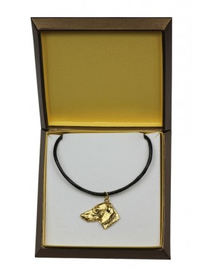Dachshund - necklace (gold plating) - 2478 - 27637
