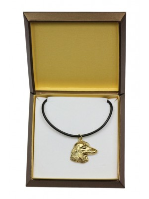 Dachshund - necklace (gold plating) - 2494 - 27653