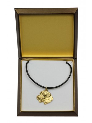 Dachshund - necklace (gold plating) - 2500 - 27659
