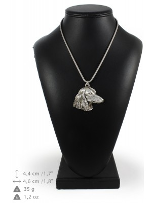 Dachshund - necklace (silver chain) - 3315 - 34440