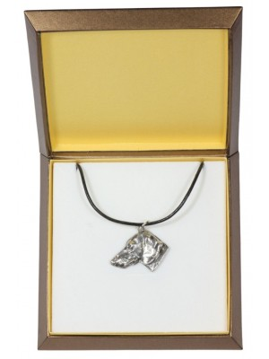 Dachshund - necklace (silver plate) - 2925 - 31069