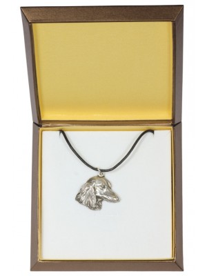 Dachshund - necklace (silver plate) - 2949 - 31093