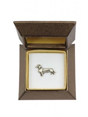 Dachshund - pin (silver plate) - 2642 - 28923