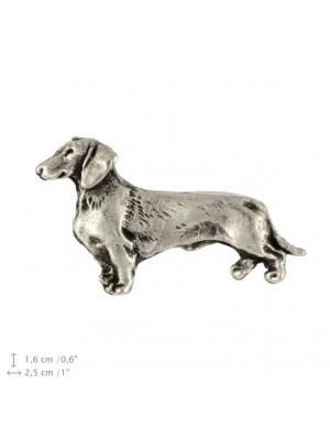 Dachshund - pin (silver plate) - 456 - 25928