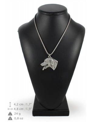 Dalmatian - necklace (silver cord) - 3147 - 32965
