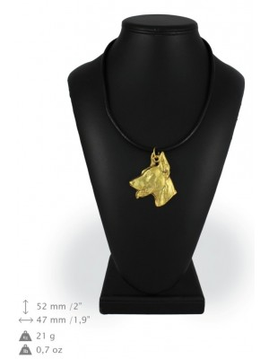 Doberman pincher - necklace (gold plating) - 926 - 25375