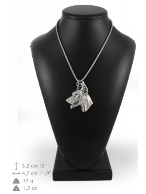 Doberman pincher - necklace (silver chain) - 3294 - 34328