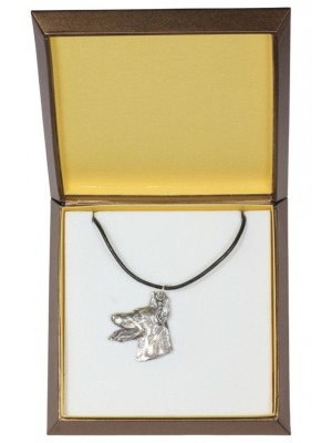 Doberman pincher - necklace (silver plate) - 3015 - 31150