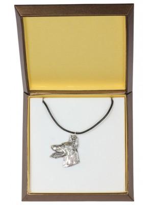 Doberman pincher - necklace (silver plate) - 3015 - 31150