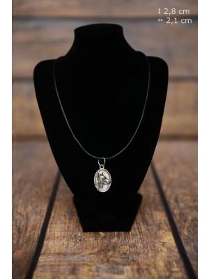 Doberman pincher - necklace (silver plate) - 3443 - 34923