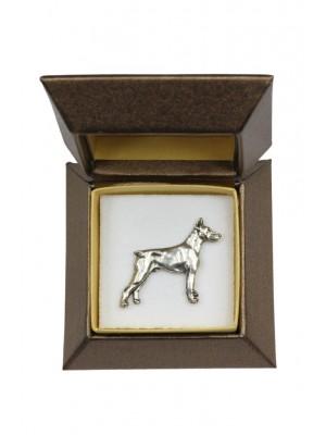 Doberman pincher - pin (silver plate) - 2664 - 28946