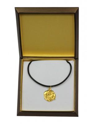 Dog de Bordeaux - necklace (gold plating) - 2485 - 27644