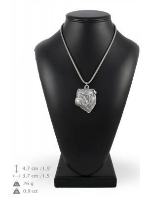 English Bulldog - necklace (silver cord) - 3161 - 33030