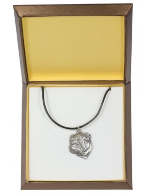 English Bulldog - necklace (silver plate) - 2919 - 31063