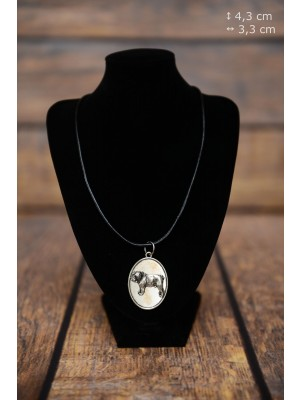 English Bulldog - necklace (silver plate) - 3388 - 34732
