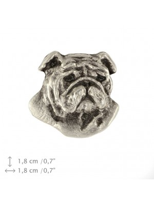 English Bulldog - pin (silver plate) - 1529 - 26009