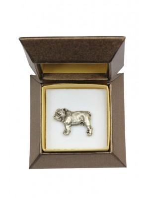 English Bulldog - pin (silver plate) - 2631 - 28912