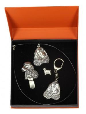 English Cocker Spaniel - keyring (silver plate) - 2298 - 24195